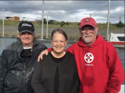 Kathy Gray's Alaska Fishing Camp: Vaughn Belliston, Kathy, and Charlie Hammond July 2017 (the minnows they used for