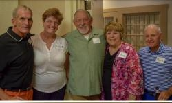 Now here's a handsome group! Craig Norseth, Margaret and Francis Lawler, Sue, Holman and Marty Becker