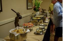 The buffet table at Magleby's